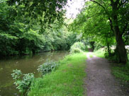 The canal close to Rufford Old Hall