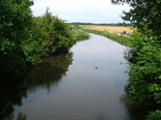 View from Strand bridge, original course of River Douglas