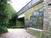 Grimshaw Park bridge (Bridge 101) complete with graffiti