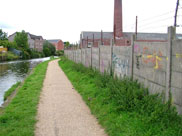 Old industry and graffiti on the outskirts of Blackburn