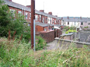 Terraced houses at side of canal