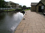 Paved towpath at the Top lock (No.58)
