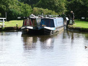 Two narrow boats leave Johnson's Hill locks (No.62)