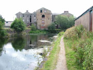 Old canalside buildings left to rot in Accrington