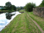 Narrow towpath