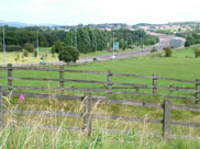 The M65 motorway in the distance
