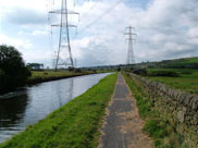 Huge pylons cross the canal