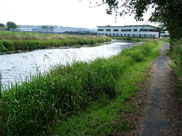 New industrial units on the canal bank