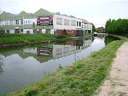 Industrial buildings on the canal at Leigh