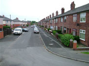 Lilford Street, Leigh, from the canal