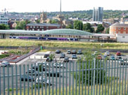 A view of Blackburn Station from the towpath