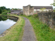 Old canalside buildings in Burnley