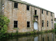 Old stone warehouse on the canal
