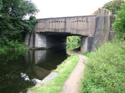 Ugly concrete 'Mitre bridge' (Bridge 129B)
