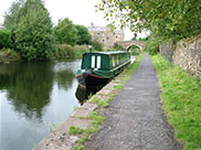 A narrow boat moored in Hapton