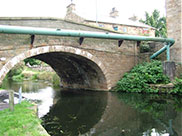 Pipe bridge at Hapton bridge (Bridge 121)