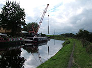 Boats and a crane at Hapton