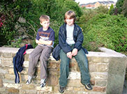 Dan and Thomas have a breather at Whalley Road bridge
